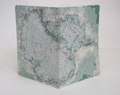 Antarctica Notebook / Journal covered in vintage map. Medium.