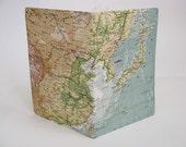 Vintage map journal: Japan, Korea, China and Mongolia.