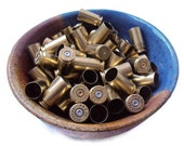 10 Brass Bullet Shell Casings, Polished .40 Caliber Bullet Shells, Spent Casings, Steampunk Jewelry Supplies - DumbBunnyDesigns