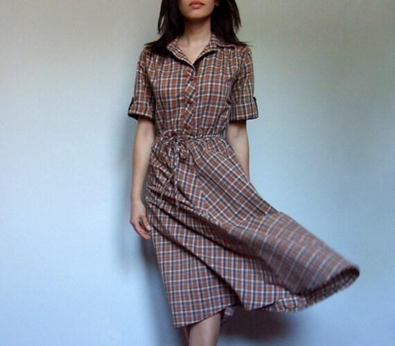 Issza Damen rmellos Kariert Plaid Button Midi Shirt Kleid