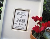 Personalized 5x7 Wedding Print  - Names, Date, Verse - in an 11x14 mat