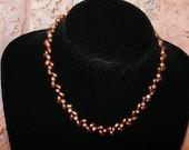 Brown and Pink pearl set