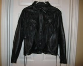 Leather Biker Jacket, Women's 14