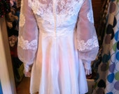 Short Vintage 60s Wedding Dress