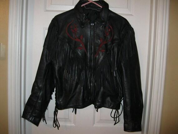 Leather Biker Jacket, Women's 12