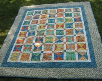 Bold & Bright Triangles Quilt