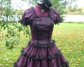 Romantic Gothic Lolita Dress in Wine