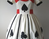 Alice In Wonderland Spades And Clubs Custom In Your Size