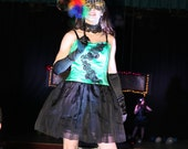 Green Envy Vampire Party Dress
