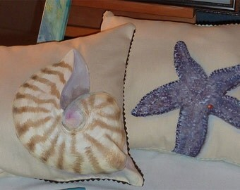 Hand Painted, Hand Made Pillows