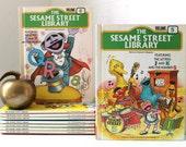 Sesame Street Library Books - Volumes 1 through 9 - Vintage Hard Cover Kids Books Copyright 1978 - Set of 9 Childrens Books