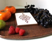 Thermo-Serv Cheeseboard - Vintage Faux Bois and tile serving tray from Westwood