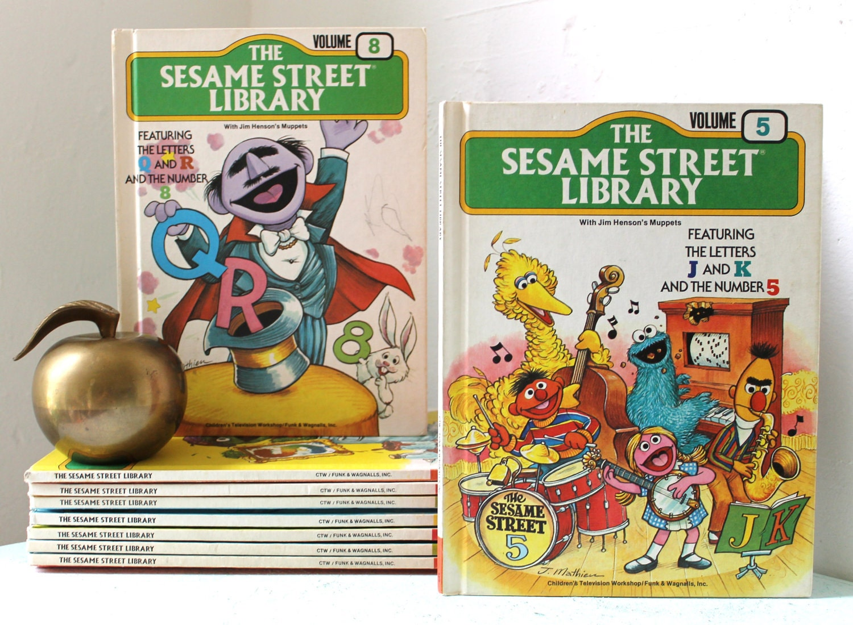 Sesame Street Library Books Volumes 1 Through 9 Vintage