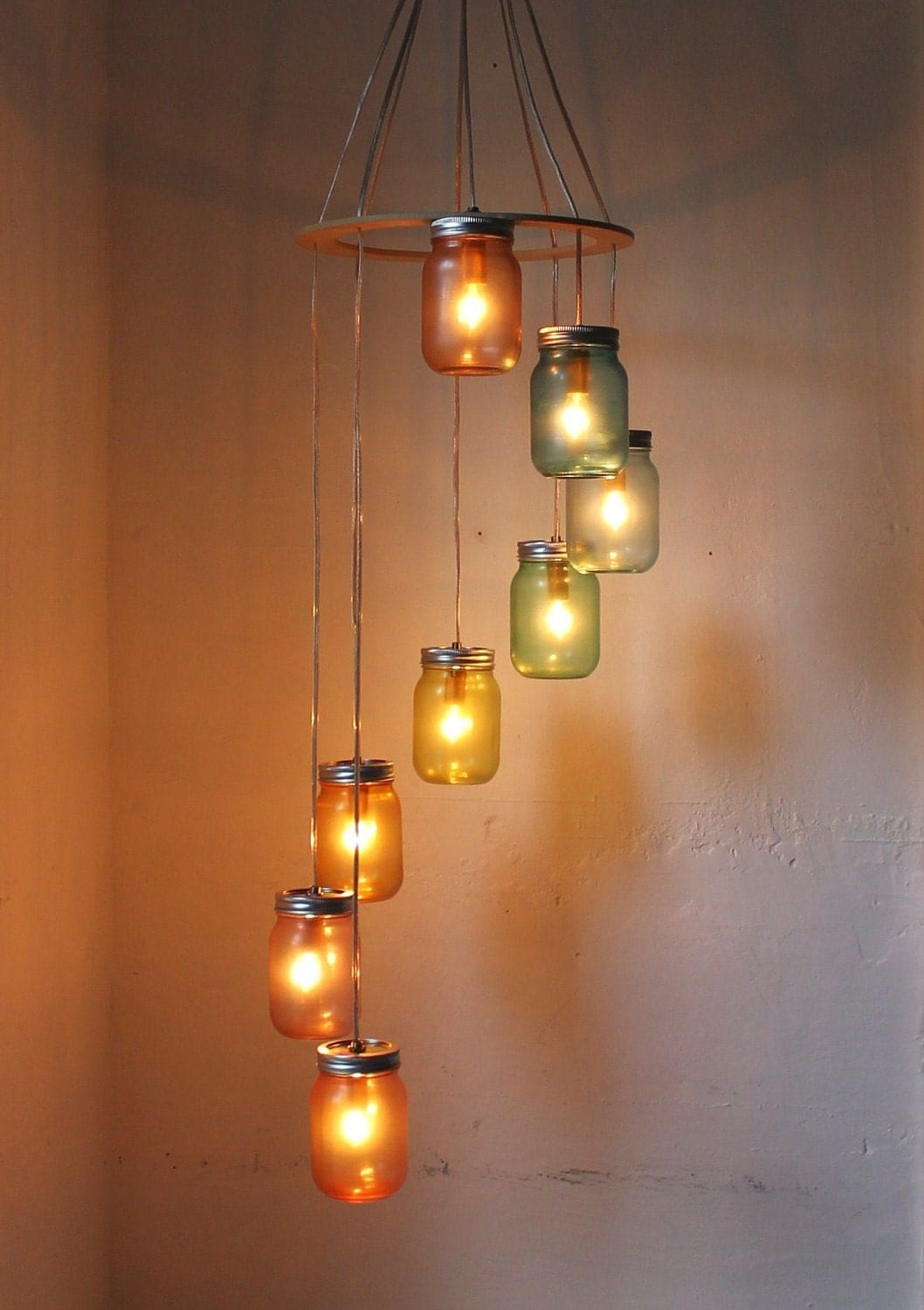 rainbow bright mason jar chandelier mason jar lighting