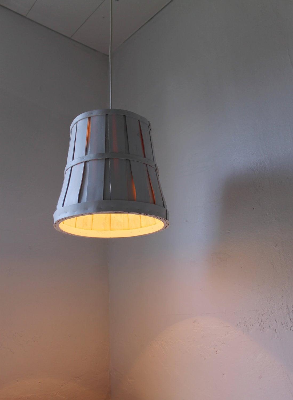 Bushel Basket Pendant Light Clean Modern Industrial Large