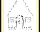 Home is Where You Hang Your Heart Print 8x10