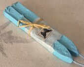 Natural Sealing wax BABY BLUE 2 sticks seal wax for stamps