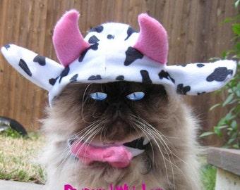 Mad Cow costume cat hat