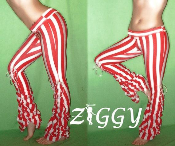 Custom Striped Circus Scrunch Dance Pants