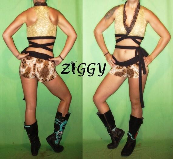 Custom Wrap Top in Sequins