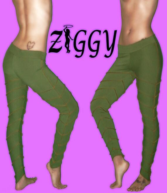 Custom Leaved Leggings from Ziggy Wear