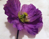 POPPY love - purples - customizable on bobby pin, barrette, comb or alligator clip