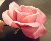 ROSE dusty, hazy pink - customizable on bobby pin, barrette, comb or alligator clip