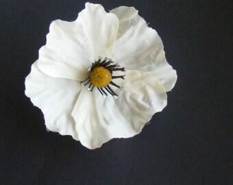 POPPY Love - whites - customizable on bobby pin, barrette, comb or alligator clip
