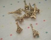 Antique Gold Eiffel Tower Paris Charms (20)
