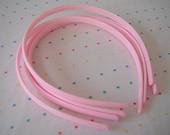 Light Pink Plastic Headbands (4)