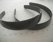 Extra Wide Black Plastic Headbands (2)