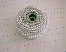 Small Silver Bead Trim, 4 mm - 3 Yards