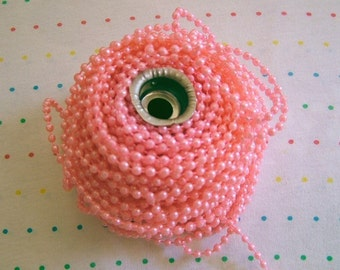 Small Light Pink Pearl Trim, 4 mm - 3 Yards