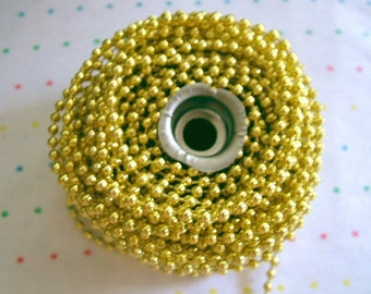 Small Gold Bead Trim, 4 mm - 3 Yards