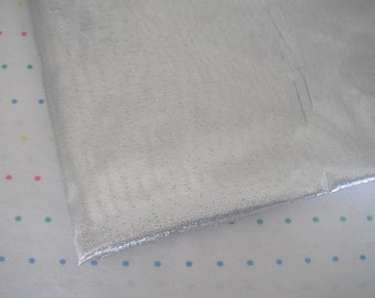 "Metallic Silver Lame Fabric, Tissue Foil Lame, 44"" Wide, BTY"