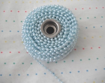 Small Baby Blue Pearl Trim, 4 mm - 6 Yards