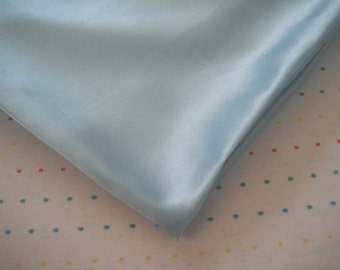 "Baby Blue Satin Lining Fabric, 60"" Wide, BTY"