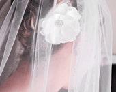 Shimmering Rhinestones, Custom Made, Bridal Hair Piece, Flower, Bridal Hair Accessory, Wedding, Bridal Headpiece, Reception, Fascinator
