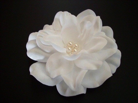 Lovely White, Swarovski Crystals, Swarovski Pearls, Wedding Hair Accessories, Handmade Bridal Hair Flower Bridal Hair Piece