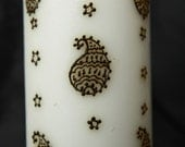 Paisleys and Stars - Handcrafted Henna Candle