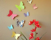 Beautiful Bold Butterflies Handmade Paper Wall Art - Custom Pattern and Solid Colors Available (As Featured in SOMERSET HOME Magazine)