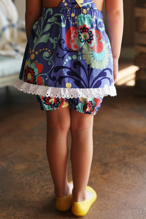 Sundress with Bloomers in LOVE print by Amy Butler