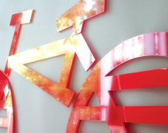 Bike Acrylic Wall Decor - Kids Decor