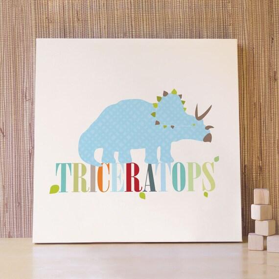 Items Similar To Dinosaur Wall Art Decor For Baby Nursery