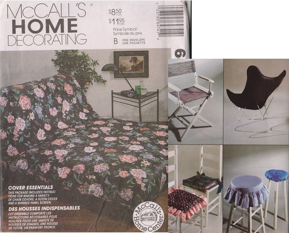 Uncut Sewing Pattern Futon Cover Seat Cushions Stool Covers