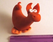 Orange Mroosaur - Original Sculpey Creature