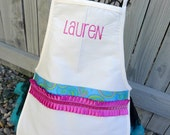 Ruffled Ribbon Personalized Apron  - Personalized with Child's name