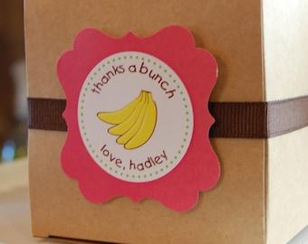 Thanks a Bunch Printable Banana Thank You Tags