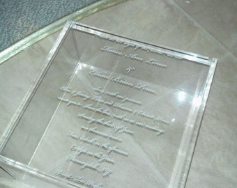 SINGLE ENGRAVED INVITATION Box, custom made for you, purchase just pne box