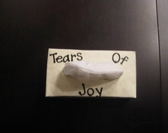 Miniature Personalized TEARS OF JOY Tissue Boxes Only 4 inches by 2 inches